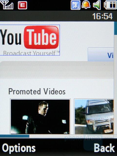 Internet browser - Samsung SGH-G800 Preview