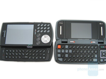 Samsung SCH-i760 (left and bottom), LG VX9900 (right and above) - Samsung SCH-i760 Review