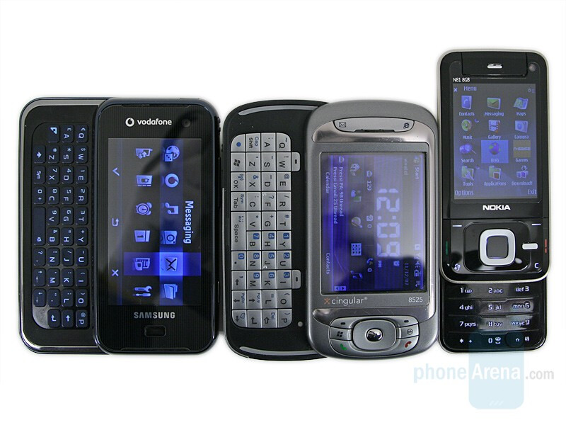 Left to right and bottom to top - Samsung SGH-F700, HTC TyTn, Nokia N81 8GB - Samsung SGH-F700 Preview