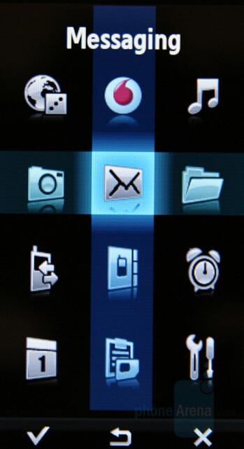 Grid - Main menu - Samsung SGH-F700 Preview