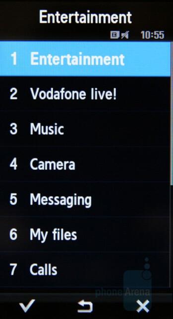 List - Main menu - Samsung SGH-F700 Preview