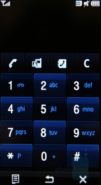 Phonebook and Dialer - Samsung SGH-F700 Preview