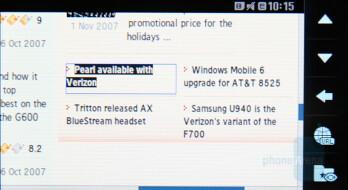 Internet Browser - Samsung SGH-F700 Preview