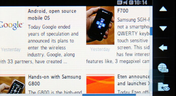 Internet Browser - Samsung SGH-F700 Preview
