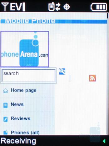 Internet browser - Samsung Gleam Review
