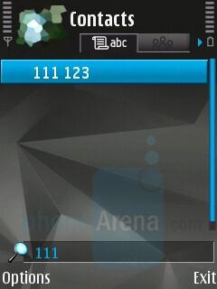 Phonebook - Nokia N81 8GB Review