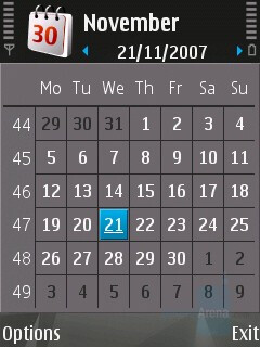 Month view - Calendar - Nokia N81 8GB Review