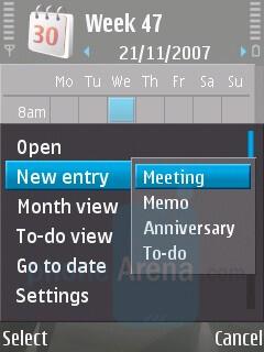 Calendar - Nokia N81 8GB Review