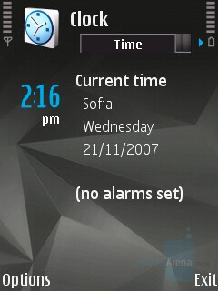 Clock - Nokia N81 8GB Review