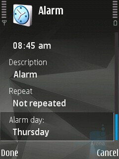 Alarms - Nokia N81 8GB Review