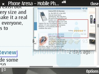 mini-map - Nokia N81 8GB Review