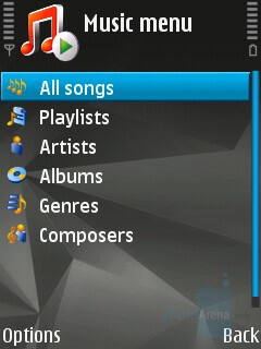 Music player interface - Nokia N81 8GB Review