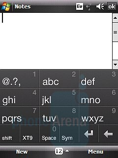 on-screen text input options - HTC Touch CDMA Review