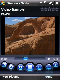 Media Player - HTC Touch CDMA Review