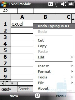 Excel sheet - HTC Touch CDMA Review