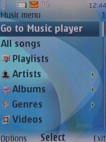 Music player interface - Nokia 7900 Prism Review