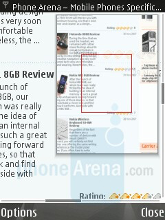 Internet browsing - Nokia N95 8GB Review
