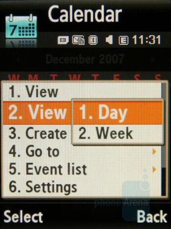 The Calendar - Samsung SGH-G800 Review