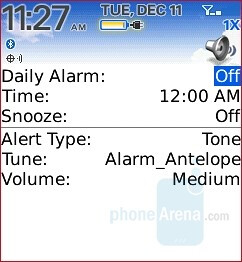Alarm - RIM BlackBerry Pearl 8130 Review