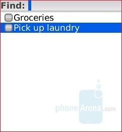 Tasks - RIM BlackBerry Pearl 8130 Review