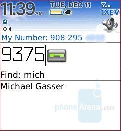 Phonebook - RIM BlackBerry Pearl 8130 Review