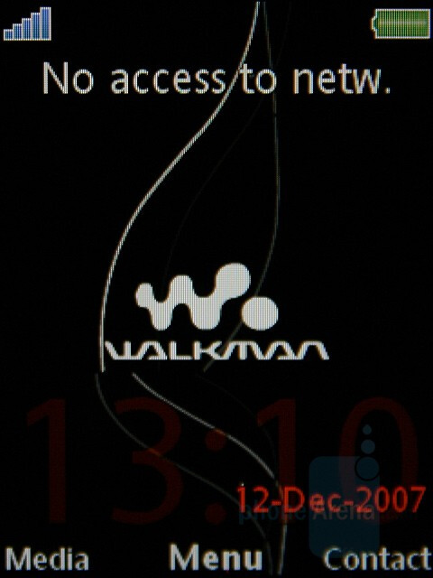 Main screen - Sony Ericsson W890 Preview
