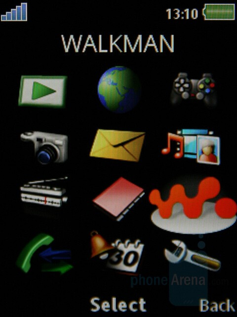 Main menu - Sony Ericsson W890 Preview