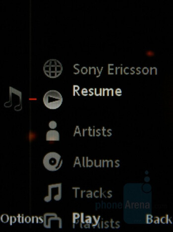 Media menu - Sony Ericsson W890 Preview