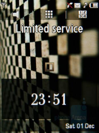 Home screen - Samsung Giorgio Armani Review