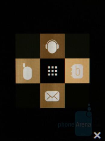 Shortcut menu - Samsung Giorgio Armani Review