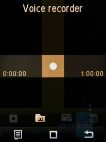 Voice recorder - Samsung Giorgio Armani Review