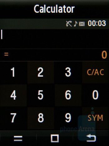 Calculator - Samsung Giorgio Armani Review