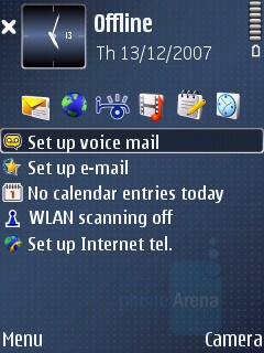 Home screen - Nokia E51 Review
