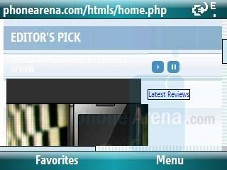 Internet browsing - Samsung BlackJack II Review