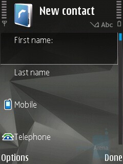 Adding a contact - Nokia N82 Review