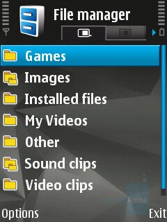 File manager - Nokia N82 Review