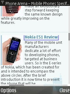 Internet Browser - Nokia N82 Review