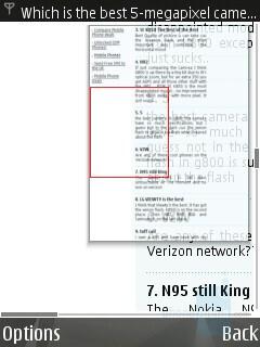 Minimap - Internet Browser - Nokia N82 Review
