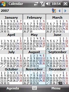 Calendar - LG KS20 Review
