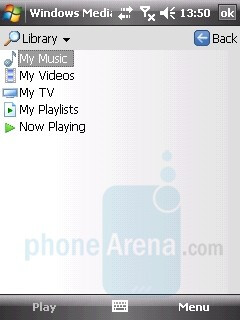 Media Player interface - LG KS20 Review
