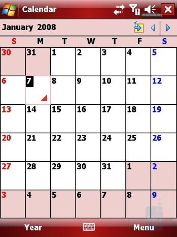 Calendar - Eten X800 Review