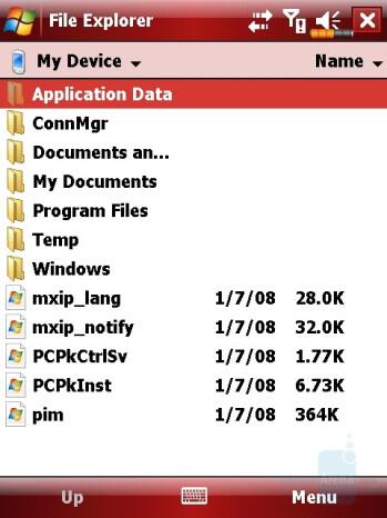 File Explorer - Eten X800 Review