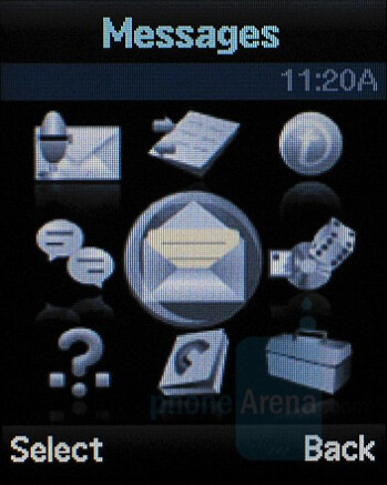 Main menu - Samsung Katalyst Review