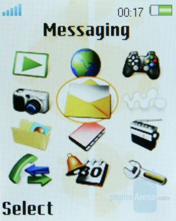 Main menu - Sony Ericsson W380 Preview
