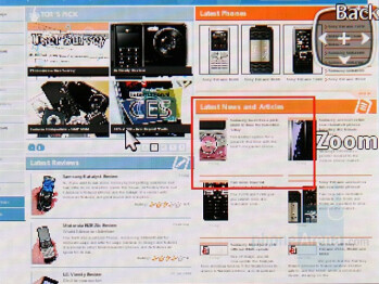 Browser - Sony Ericsson K660 Preview