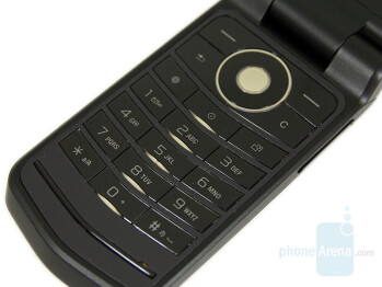 Navigation and numeric keys - Sony Ericsson Z555 Preview