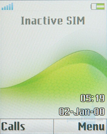 Home screen - Sony Ericsson Z555 Preview