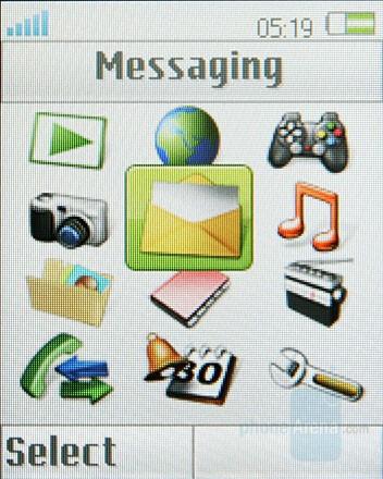 Main menu - Sony Ericsson Z555 Preview