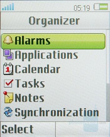 Organizer - Sony Ericsson Z555 Preview