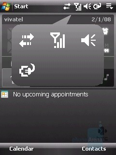 Service icons - HTC Touch Dual Review